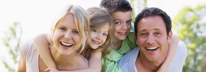 Happy Family Achieving Wellness in Cary NC